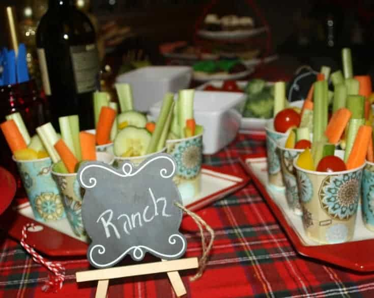 Veggie Cups with Ranch dressing