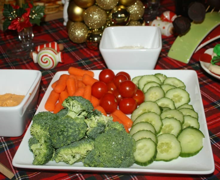 veggies and dip for your holiday table