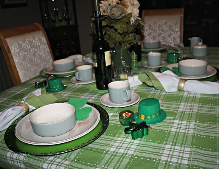 St Patrick's tablescape 4