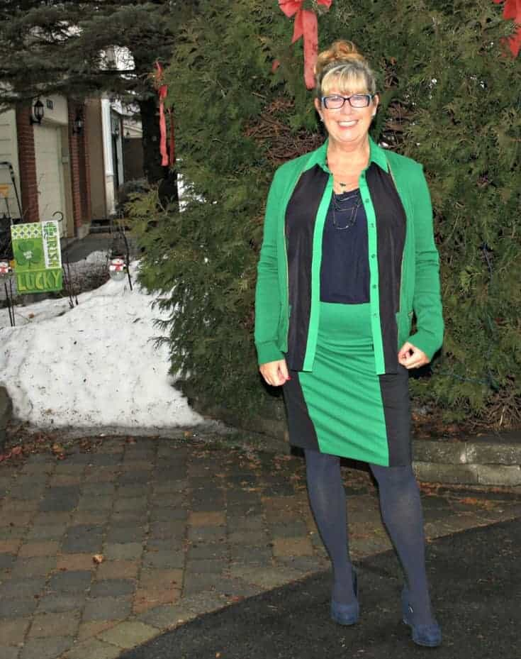 Michael by Michael Kors outfit in Navy and green