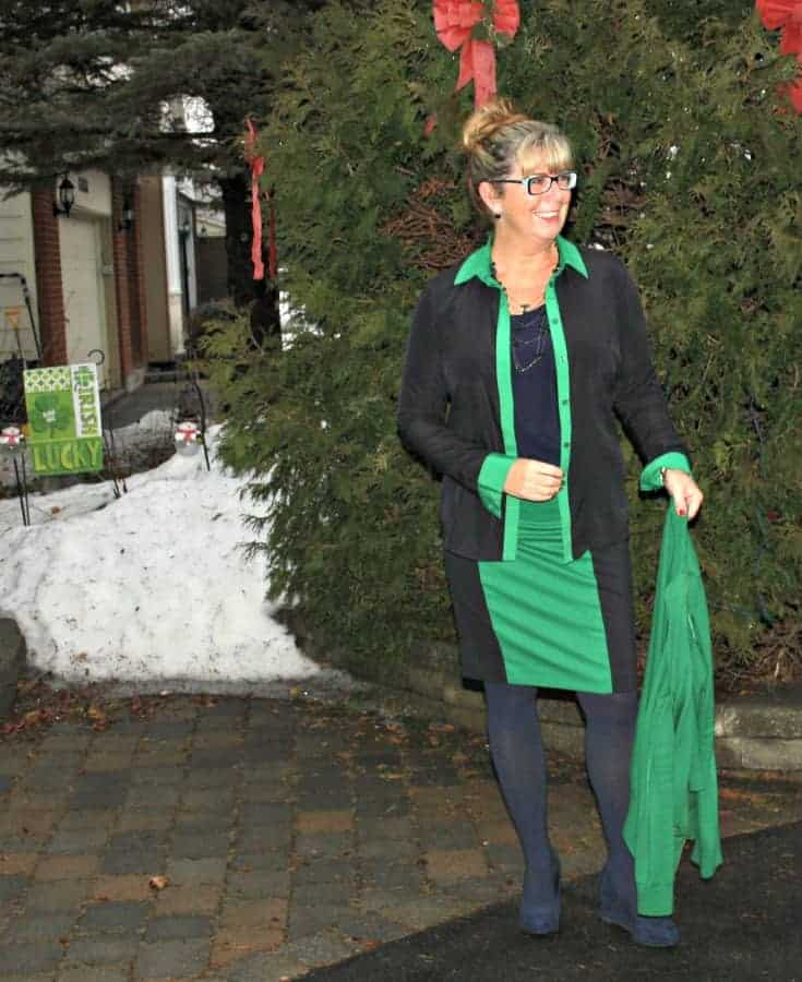 Michael by Michael Kors outfit in Green and navy