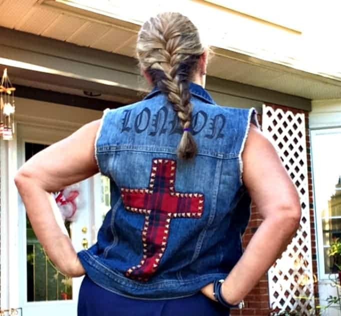 Forever 21 denim vest  and lia sophia jewellery with a french braid