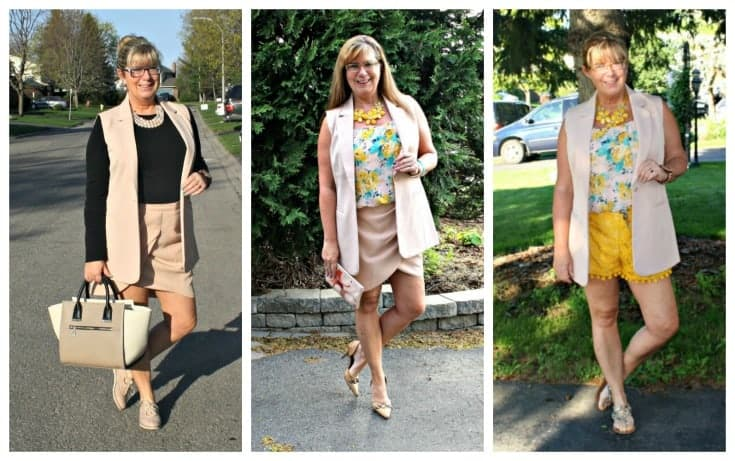 forever 21 blush suit with a few variations