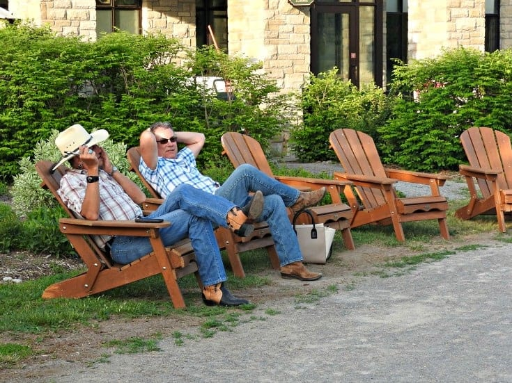 men in plaid and cowboy boots at Calabogie