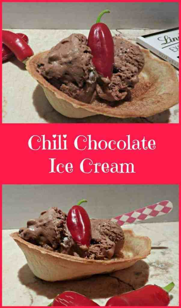 Chili Chocolate Ice Cream with a hint of baileys