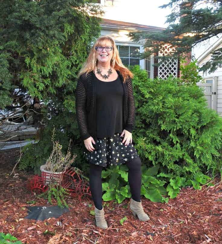 Old Navy Floral Skirt, Rodeo Boots and a floral necklace from Happiness Boutique