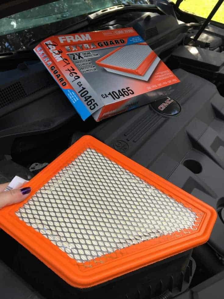 GMC Terraine and FRAM air filters