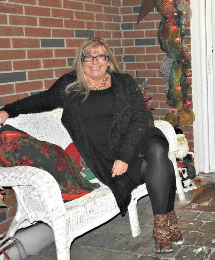 joe fresh sweater, banana republic LBD and shoe dazzle leopard boots