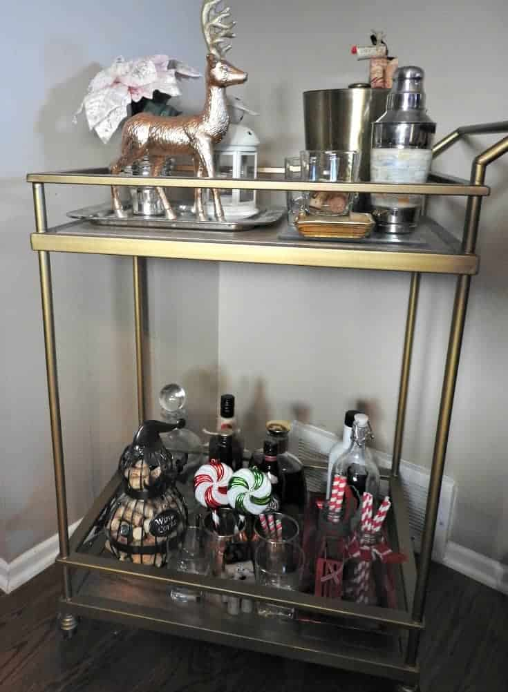 Target Bar cart in pinks and golds