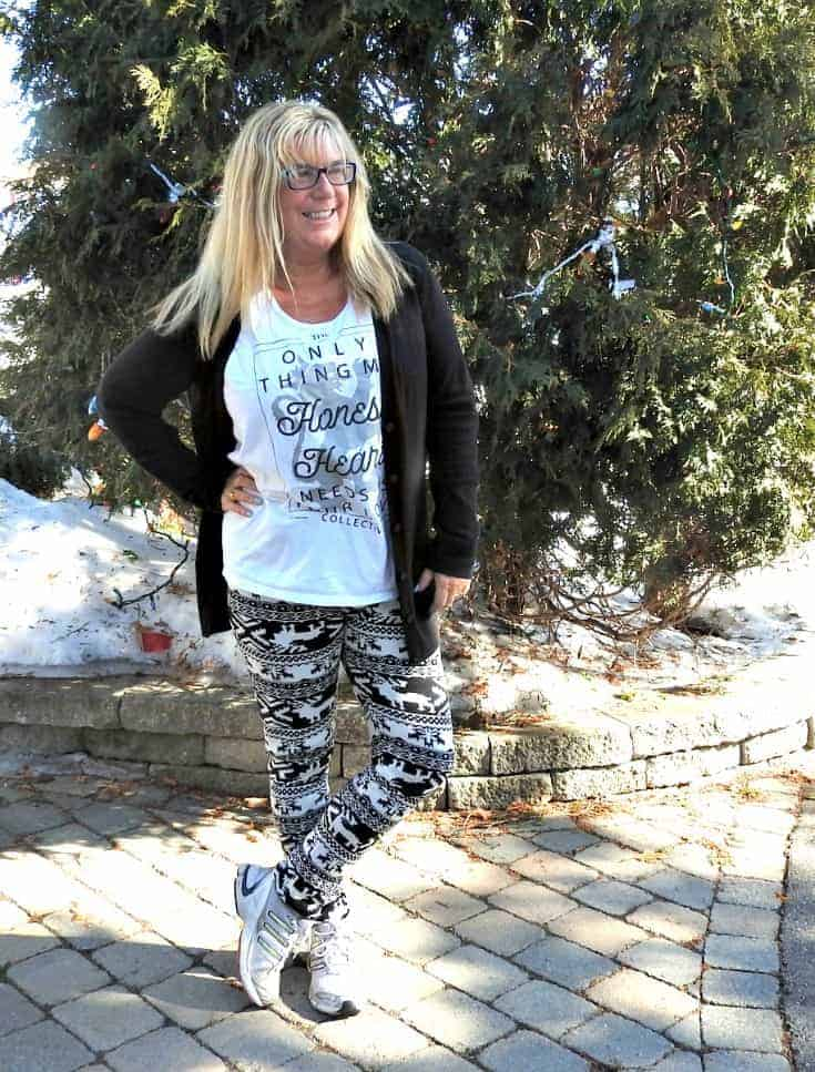 leggings on a sunny day