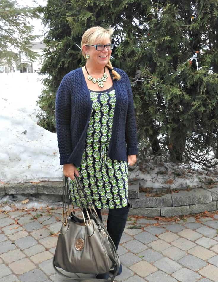 winterizing a summer dress