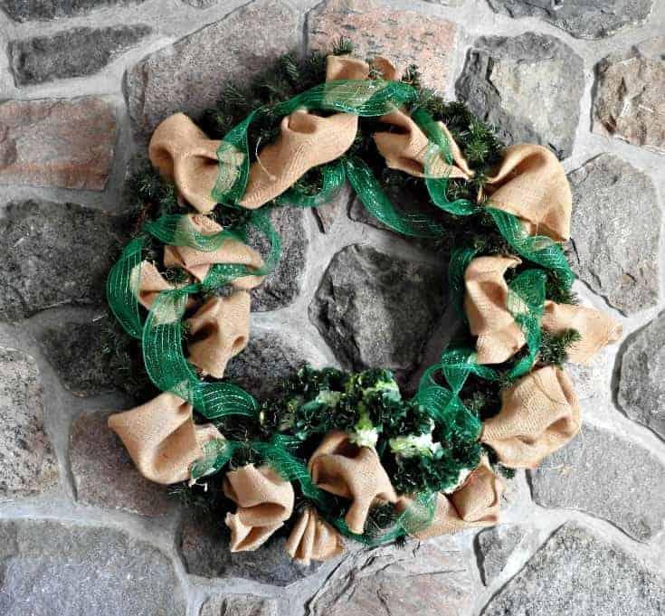 greening up my wreath