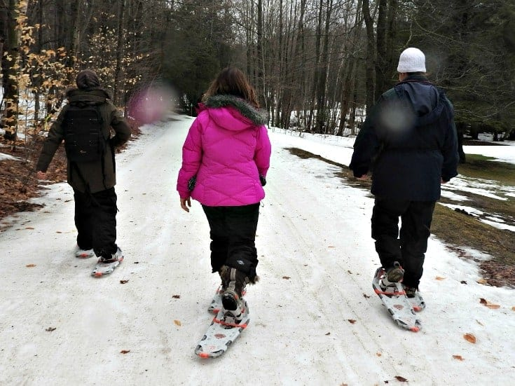 snow shoes at Horseshoe resort
