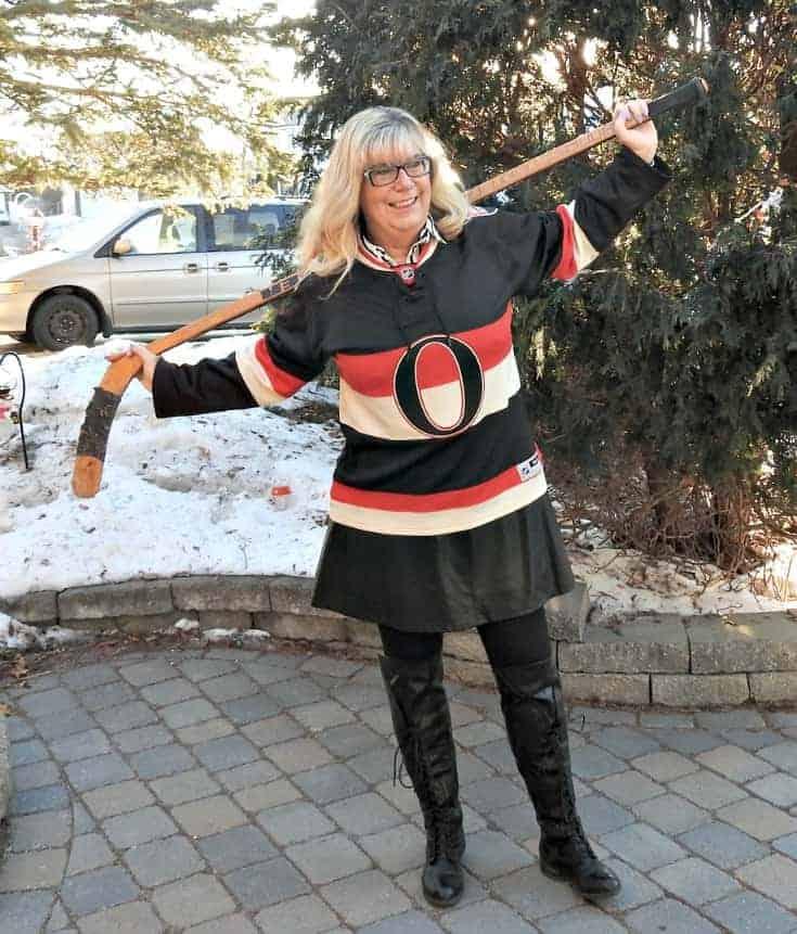 Ottawa senators jersey and a leather dress
