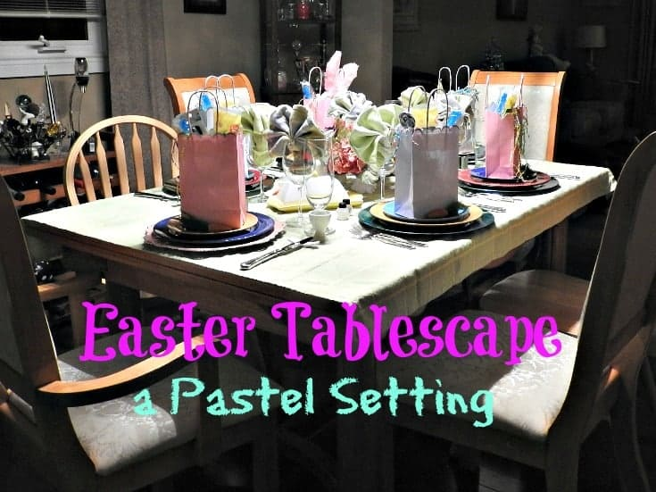 Pastel setting for an Easter Table