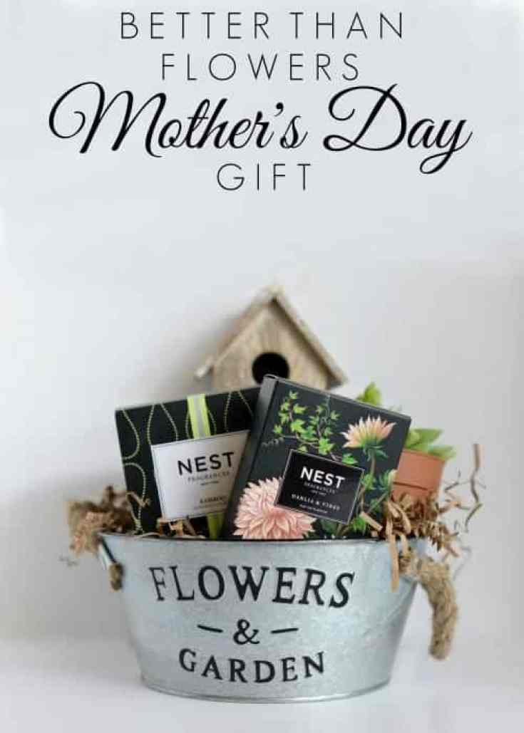 Better than flowers moms day pail