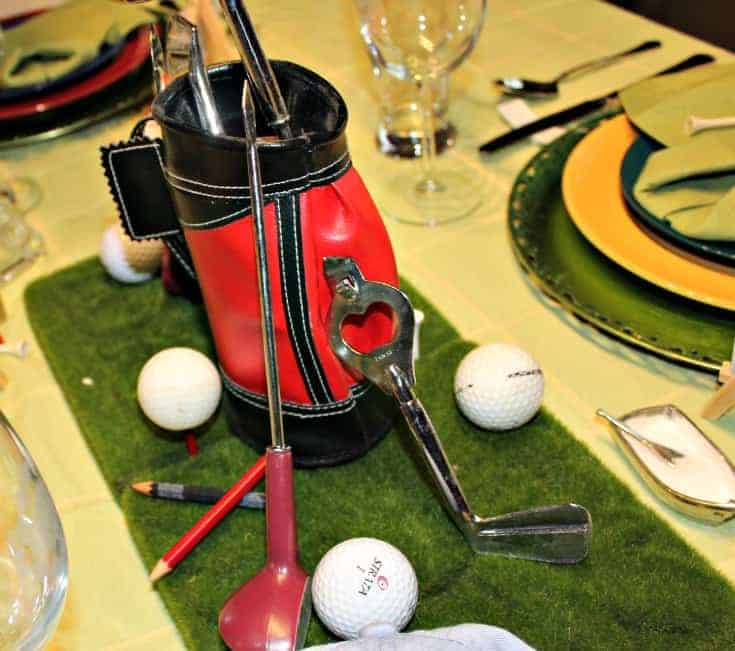 the perfect centrepiece for a golf table