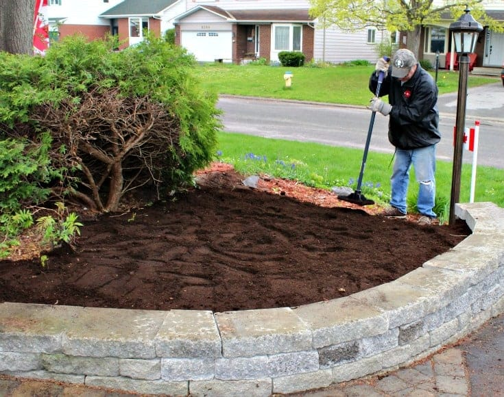 creating a new garden wall