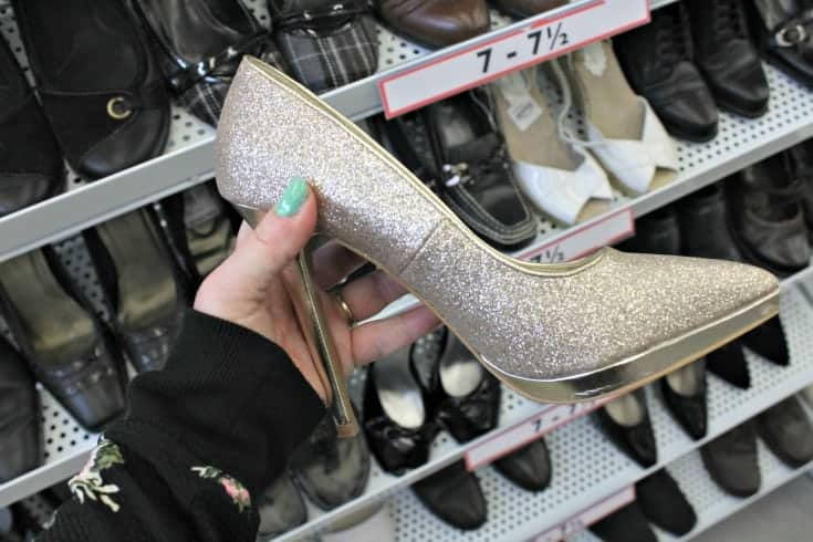 glitter shoes from Value Village