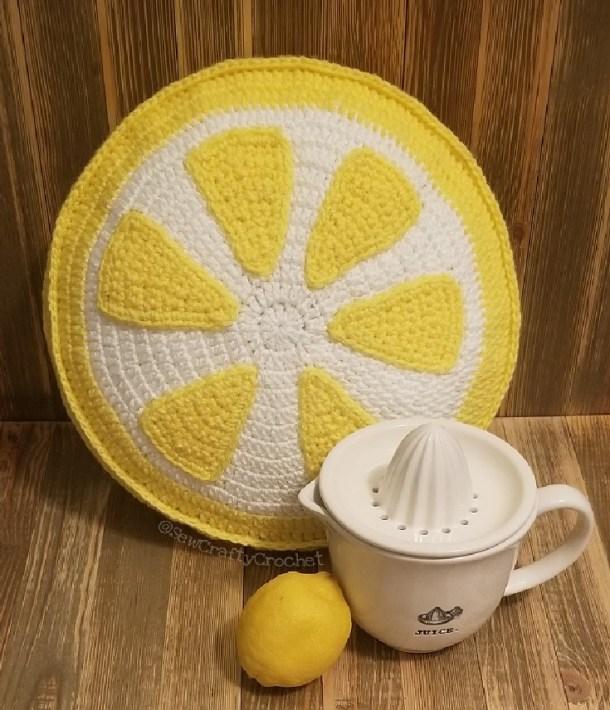 handmade pillow that looks like a lemon
