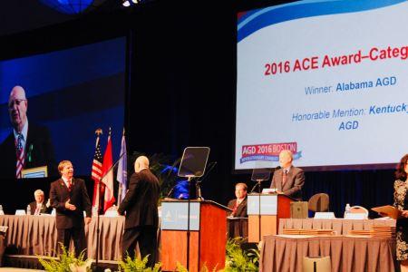 AGD 2016 Boston - Bill Chesser Accepts ACE Award