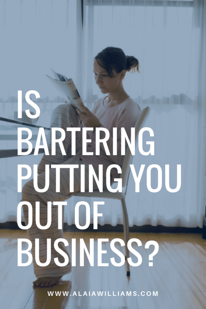 is bartering putting you out of business