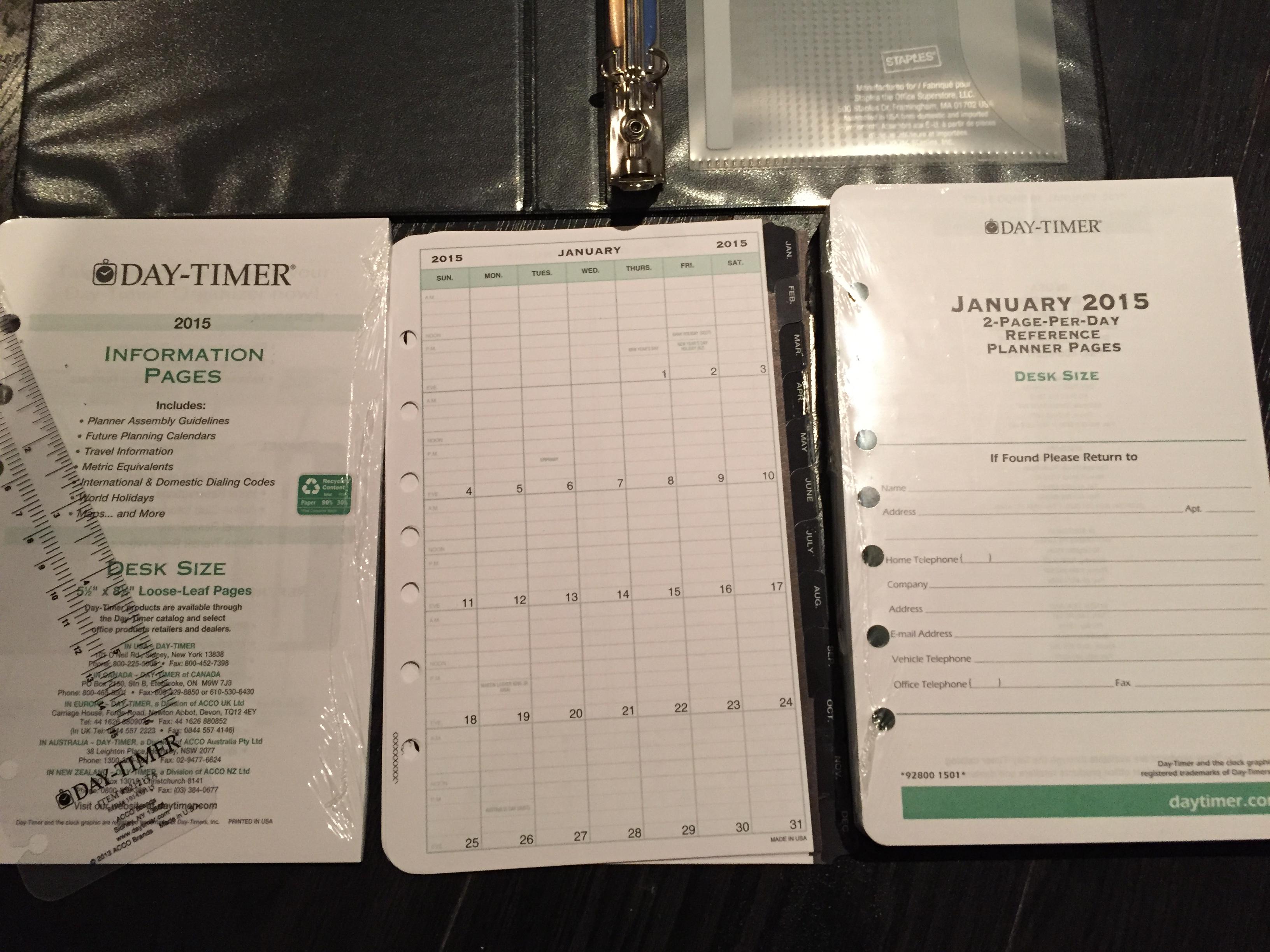 My DIY Planner – Daytimer Planner