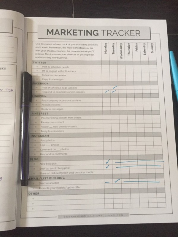 marketing tracker
