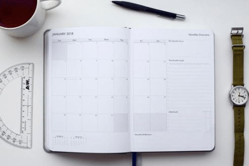 Unbound Planner 2019 Classic Calendar page