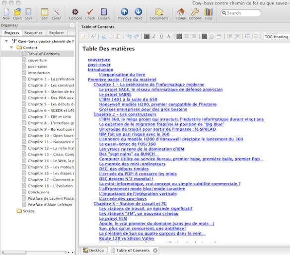 Jutoh, l'outil qui permet de générer aussi des ebooks au format Epub qu'au format mobipocket...