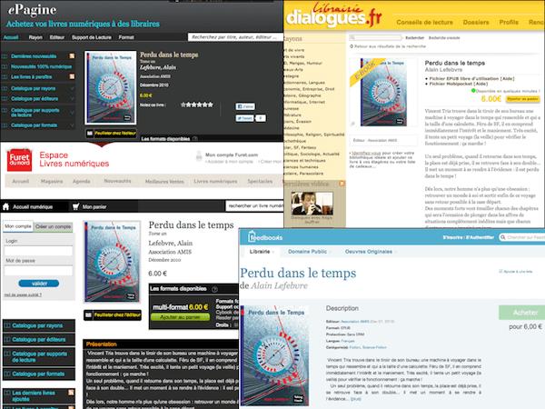 """""""Perdu dans le temps"""" tome 1 disponible au format Epub et mobipocket sur de nombreuses librairies en ligne..."""