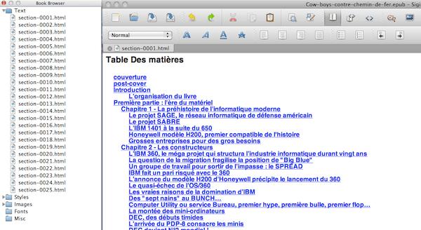 Sigil, un outil open source dédié à l'édition au format Epub...