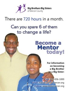 Big Brothers Big Sisters Recruiting Postcard
