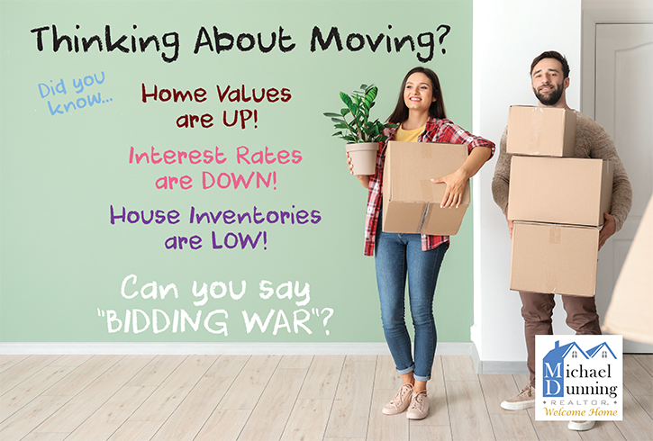 Thinking About Moving? Postcard