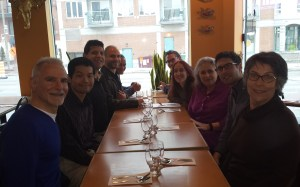 Dinner with friends after a Toastmasters competition