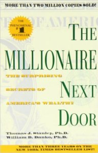 Book cover. The Millionaire Next Door