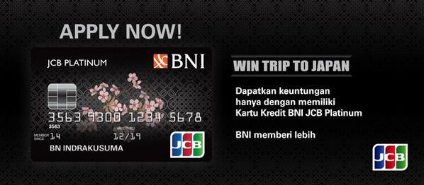 Kartu Kredit BNI JCB Platinum