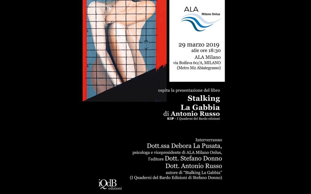 """PRESENTAZIONE DEL LIBRO """"STALKING-LA GABBIA"""" Di Antonio Russo"""