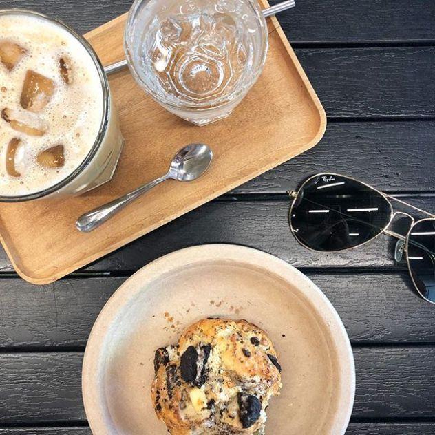 Ray Ban sunglases and coffee