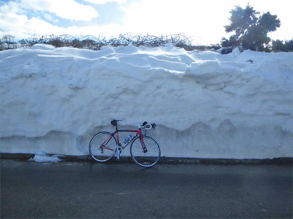 Snow on the Isle of Man TT Course