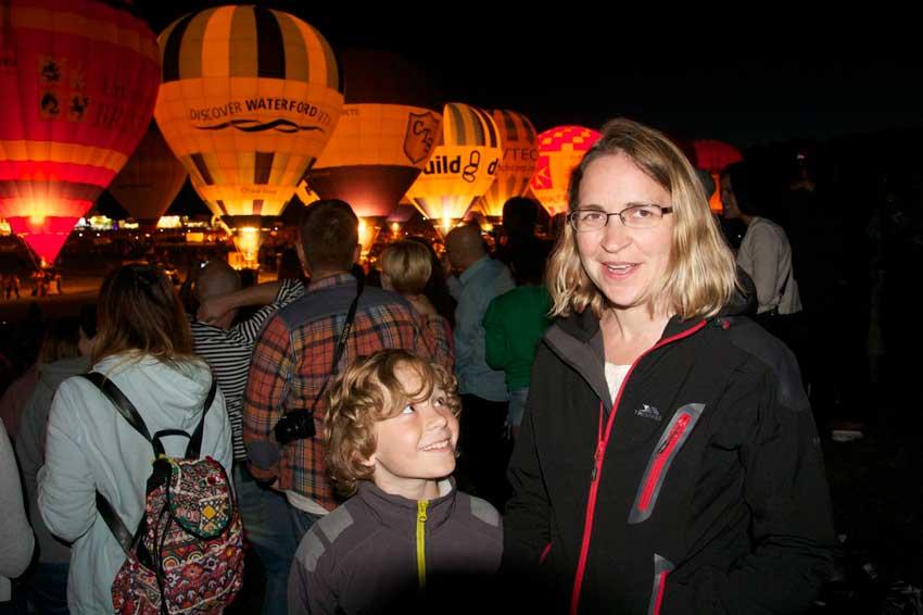 Anna and Morgan at Balloon Fiesta
