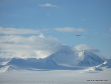 Illyusian IL-76 Approaching Blue Ice Runway at Union Glacier