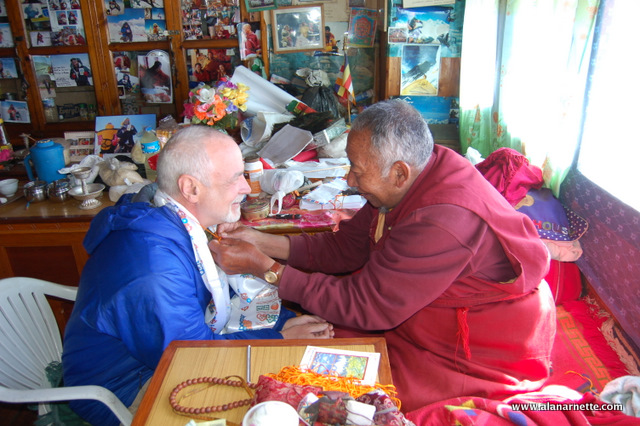 Lama Geshi providing a blessing for Alan