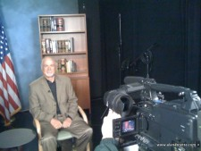 Alan doing Media Interviews for 7 Summits Climb for Alzheimer's