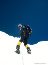Alan Climbing the Khumbu Icefall in 2002