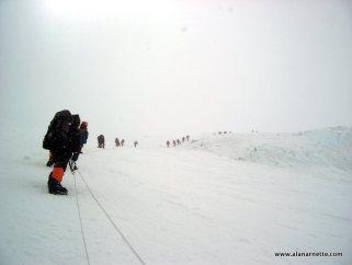 Climbers on the Lhotse Face