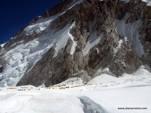 Everest West Shoulder above C1 in 2008