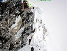 New 2013 Descent on Hillary Step