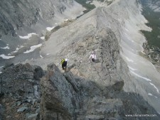 Barry and Tom on the LIttle Bear West Ridge