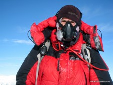 Alan on Manaslu with Summit Oxygen system